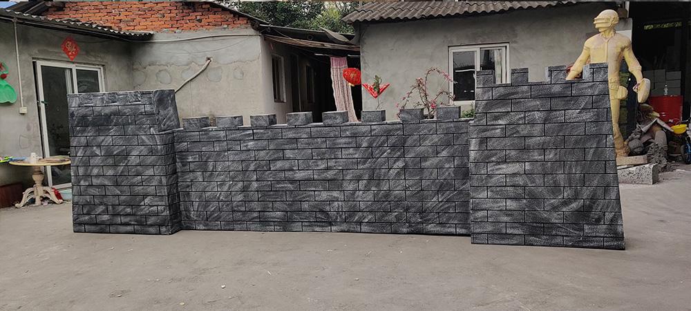 仿真城墙墙砖泡沫雕塑制作